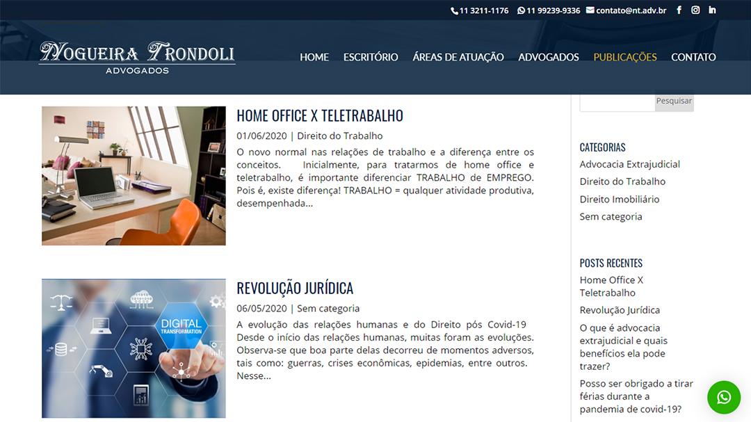Site Nogueira Trondoli Advogados